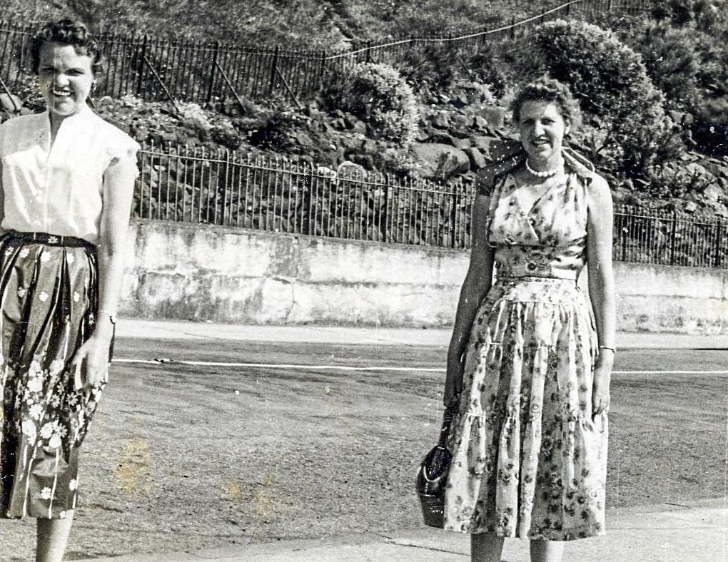 Nessie Brammer with Betty Watt  Dunoon 1950s