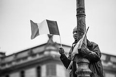 French Election-Celebrations at The Louvre 12bw (Lorie Shaull) Tags: emmanuelmacron presidentielle2017 frenchelection frenchelections2017 thelouvre celebration blackandwhitephotography frenchflag paris votez france