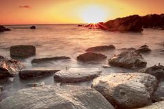 Little Fistral (The Original Happy Snapper) Tags: sunlight sunset tide sea longexposure