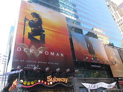 Wonder Woman 42nd Street Billboard DC Comics 5571 (Brechtbug) Tags: wonder woman battle armor times square billboard theater posters 42nd st 7th ave broadway nyc 05082017 movie billboards new york city work working worker paint painting advertisement dc comic comics hero superhero krypton alien dark knight bat adventure book character shield s insignia red blue man for may 2017 sword brunette amazon paradise island mythology myth mythological batman superman jla not linda carter