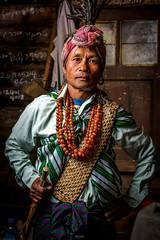 Chin's Tribe man in traditional headgear and dress. (tehhanlin) Tags: burmese chinstate mindatdistrict monks myanmar pagodas tatooedface tribes sonysg sonysingapore sonya7rm2 fe85gm portrait humaninterest travel photography ngc