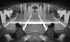 Gemelléité (KinOreve) Tags: escalator london kinoreve icvally what aklso gets mirrored horixontally