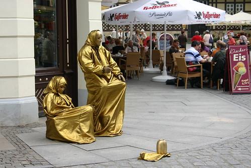 Straßenkunst in Wernigerode