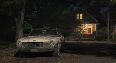 That New Car Sent (C A Soukup) Tags: acertainstillness almostcinematic cinema cinematic likeamovie movieframe moviestill nightimage nightphotography noir relics