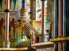 Lion (tubblesnap) Tags: fountains abbey national trust studley royal st marys church jesus lion gilt