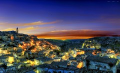 Bella la vita (Gio_guarda_le_stelle_see_you_in_september) Tags: matera sunset unesco landscape clouds italy zero ilcarrozzone bluehour sky memories