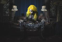 Never mind The Joker its The Stoner you wanna worry about (Busha_b) Tags: dccomics marvelcomics persona punk strange queen fashion evil alternative library dark darkbeauty darkportrait scream altaego designer tartan trousers model