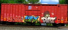 NOKL 571894 (timetomakethepasta) Tags: nokl boxcar sax dirt tbk freight train graffiti art benching selkirk new york photography arys borg