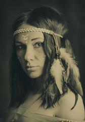 Pocahontas (Valentyn Kolesnyk (ValeKo)) Tags: pentax people portrait petzvale woman k3 ko120m light look