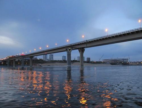The dancing bridge in Volgograd