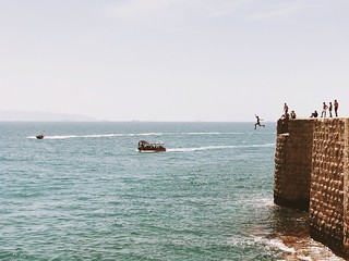 Acre, Israel The Great Outdoors - 2017 EyeEm Awards Sea Water Nature Beauty In Nature Horizon Over Water Day Real People Leisure Activity Scenics Outdoors Clear Sky Weekend Activities Large Group Of People Vacations Lifestyles Sky Nautical Vessel Wave מיי
