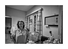 Nurse Marie (Jan Dobrovsky) Tags: 21mm atmosphere biogon blackandwhite contrast document figure grain human indoor leicam monochrom monochrome mood northernbohemia nurse people reallife retirement portrait