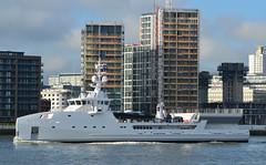 Game Changer (5) @ Gallions Reach 18-05-17 (AJBC_1) Tags: riverthames gallionsreach london ©ajc superyacht dlrblog luxuryyacht england unitedkingdom uk northwoolwich eastlondon newham londonboroughofnewham ship boat vessel motoryacht nikond3200 yachtsupportvessel ysv damen damenshipyardsgroup ys6911