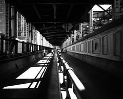 Ed Koch Queensboro Bridge. (Julien Prénat) Tags: nyc mamiya7ii gotham blanc newyorkcity bw edkoch film edkochqueensboro brooklyn bridge rpx25 wb bk nb filmphotography analogphotography architecture black noir newyork ny analog white