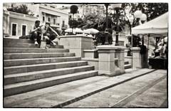 Plaza Colon (Samy Collazo) Tags: pinhole35mm pinhole03mm kodaktrix400 lightroom3 niksilverefexpro2 plazacolon sanjuan oldsanjuan viejosanjuan puertorico camaraestenopeica estenopo fotografia callejera fotografiacallejera streetphotography