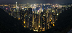 A City Abuzz (NOAC_) Tags: hong kong night skyline nocturnal nighttime light lights trail long exposure seconds skyscrapers cityscape colorful sunset dusk evening pentax k5 iis panorama stitched asia china