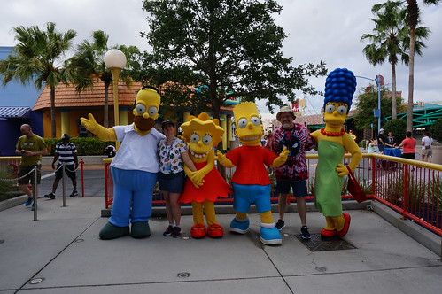"""Universal Studios, Florida: Tracey and Scott with the Simpsons • <a style=""""font-size:0.8em;"""" href=""""http://www.flickr.com/photos/28558260@N04/34741486725/"""" target=""""_blank"""">View on Flickr</a>"""