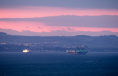 HMS Queen Elizabeth at sunset (asp1969) Tags: hmsqueenelizabeth aircraftcarrier forth sunset royalnavy