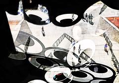 Chasing Murakami Worlds (kirstiecat) Tags: murakami takashimurakami theoctopuseatsitsownleg art people strangers chicago peopleexperiencingart multipleexposure creative artistic street wonder america illinois shadows