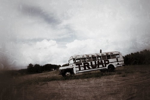 You're either on the bus...or you're sane: Trump bus, Northern Minnesota