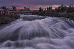 Snow Melt (NikonDigifan) Tags: upperfalls spokanefalls spokaneriver spokanewashington sunrise spring waterfall bridge uspavilion redlionhotels niksoftware colorefexpro nikond750 nikon28300 mikegassphotography spokane