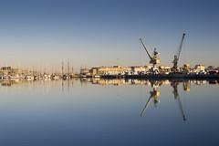 Reflets (Emilie RM) Tags: bretagne saint malo reflets port grues bateau
