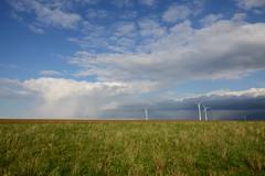 the calm & the storm (rainbowcave) Tags: spring field clouds windengine rheinhessen wolken himmel frühling felder wiese meadow sky