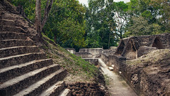 Cahal Pech (Tinker & Rove) Tags: cahalpech sanignacio belize belice centralamerica travel adventure archaeology mayan maya stairs ruins jungle culture ancient path limestone stone outdoors architecture old