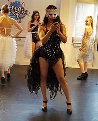 Trying on the dance outfit (Natassia Crystal) Tags: highheels dancing outfit costume performance photobomb overthetop burlesque