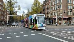 Naar verre kusten (Peter ( phonepics only) Eijkman) Tags: amsterdam city nederland netherlands nederlandse noordholland holland gvb combino tram transport trams tramtracks rail rails strassenbahn streetcars trolley