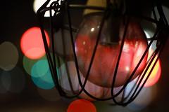 Red Lights (hidesax) Tags: redlights light bulb wire bokeh street cars lights night nightscape hidesax sony a7ii leica macroelmaritr 60mm f28
