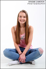 fun-portraits (graeme cameron photography) Tags: photo shoot studio fun grin grinning teenager jeans