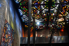 Psychedelic Sunshine (Maisarah H) Tags: art gallery artwork australia national ngv victoria stained glass sun colourful rainbow