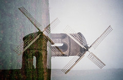 Chesterton multi exposure (D A Willetts) Tags: multipleexposure doubleexposure triple exposure tripleexposure agfa200 agfa windmill chesterton chestertonmill incamera film grain grainy quadruple quadrupleexposure