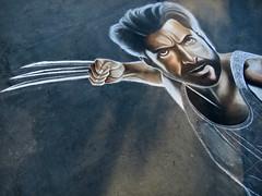 """Wolverine"" Chalk Magic (Bennilover) Tags: winner bestinshow chalkdrawings hughjackman wolverine artsalive street painting festival chalk drawings xmen marvelcomics parkinglot"