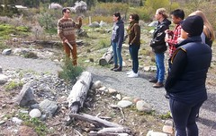Splitrock's Iraleigh gives a tour of their nursery (BC Wildlife Federation's WEP) Tags: lillooet wetland restoration design workshop wetlands education program bcwf wep splitrock environmental spray creek ranch farm organic schoolyard aboriginal