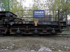 Uaais819 9953 208-9 013 (Groch1) Tags: daher daherprojects uaais uaais819 wagonspecjalny tiefladewagen łódźżabieniec lodz abb 358099532089 waggonunion