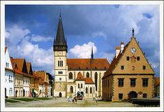 postcard - from vonlewentz (Jassy-50) Tags: postcard postcrossing bardejov slovakia church cityhall townsquare piazza unescoworldheritagesite unescoworldheritage unesco worldheritagesite worldheritage whs
