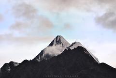 Minar Peak (6172 m) (_Amritash_) Tags: minar minarpeak lahaul himalayas himachal himalayanranges mountains mountainpeak clouds evening eveninginhimalayas himachalpradesh travel travelindia travelinhimalayas minarpeak6172m