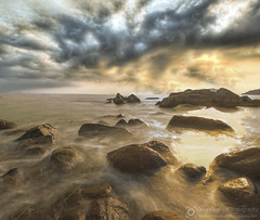 Rocky Beach Long Exposure Photography