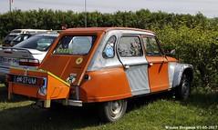 Citroën Dyane 1972 (XBXG) Tags: 6427um citroën dyane 1972 citroëndyane orange citromobile 2017 citro mobile vijfhuizen nederland holland netherlands paysbas vintage old classic french car auto automobile voiture ancienne française vehicle outdoor