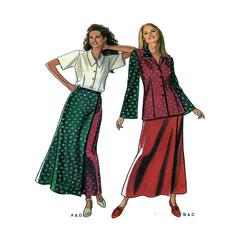 New Look 6286 sewing pattern (FindCraftyPatterns) Tags: newlook6286 women dressset sewingpattern buttonfront shortsleeveblouse wrapskirt longsleevetop size81012141618uncut