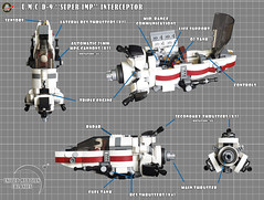 "U.M.C D-9 ""SUPER IMP"" Interceptor (Loysnuva) Tags: lego moc starfighter system real world 200 contest mars colonies bionifigs loysnuva pewpew united"