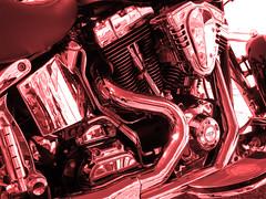 Red Devil (François Tomasi) Tags: engine motor moteur moto françoistomasi yahoo google flickr red rouge filtre reflection chrome lights light reflex nikon pointdevue pointofview pov lumières lumière touraine france europe photo photography photographie