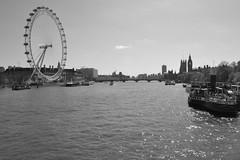 London in the Sunshine (James Mans) Tags: nikon d5000 blackandwhite london londoneye houses parliament bw