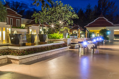 Mövenpick Resort Bangtao Beach Phuket (jennchanphotography) Tags: hotel resort phuket thailand tourism travel luxury jennchanphotography nighttime pool lights seasia southeast asia