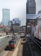 Marathon Monday 449 (imartin92) Tags: mbta worcesterline bostonsubdivision boston massachusetts amtrak lakeshorelimited ge p42dc genesis passenger train phasei heritageunit