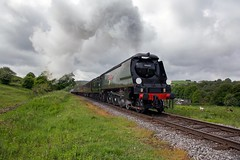 Class WC, 34092 'City of Wells' works the first train of the day from Heywood to Rawtenstall, Irwell Vale, East Lancashire Railway 21.05.2017.jpg (alannaylor85) Tags: west country class 34092 city wells irwell vale east lancashire railway