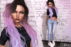 i'll fight for you. always. (Ary McAuley [ ivy. ]) Tags: sl second life letre maitreya moon hair catwa catya chain tetra blueberry jeans crop shirt versov sneakers euphoric street outfit fashion pastel curls