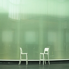 silent dialogue (montel7) Tags: green chairs
